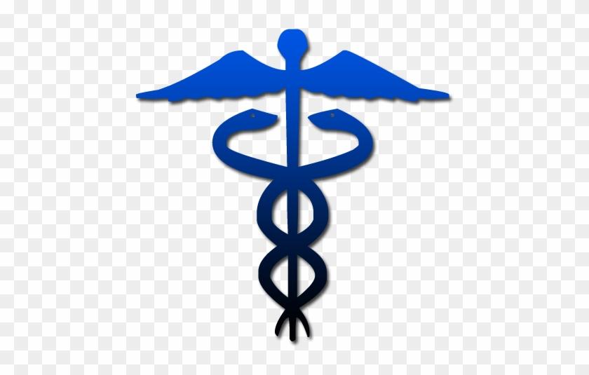 Caduceus Symbol Blue Gradient Clip Art Rod Of Asclepius Free