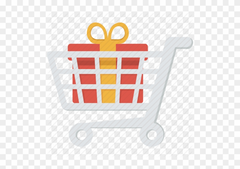 Cart Clipart Purchase Order - Shopping Cart With Gift Icon #118364