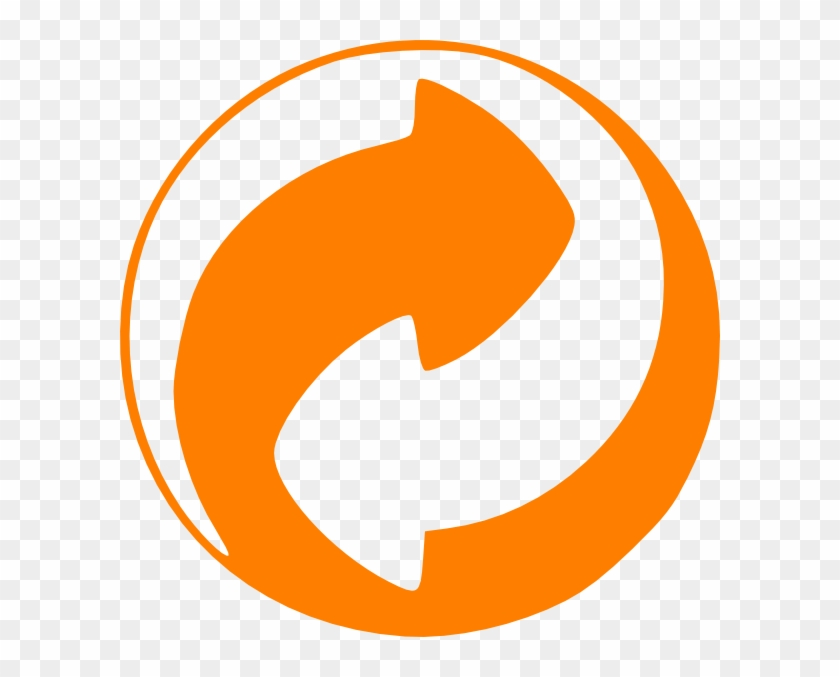 Orange Circular Arrows Clip Art At Clker Recycling Symbols For