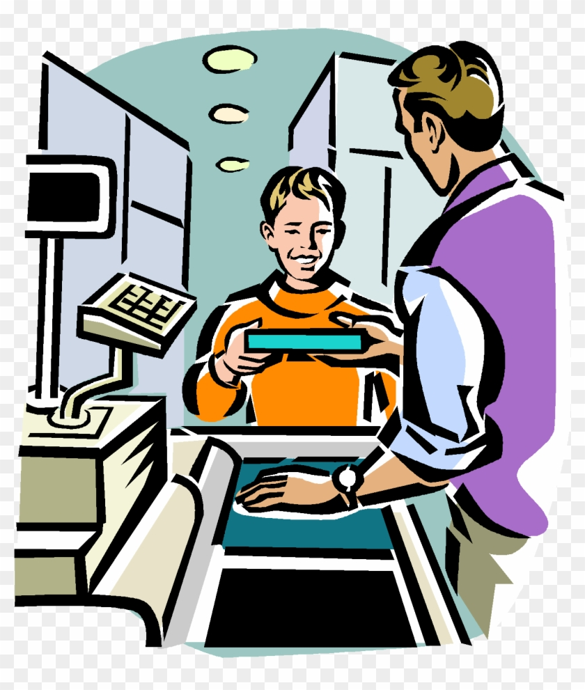 Buying Something Clipart - Buying A Book Clip Art #118377