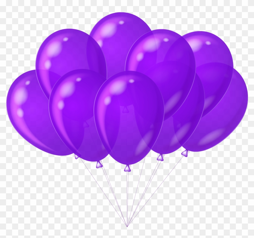 Balloon Arrangements Images - Purple Balloons Clipart #118455