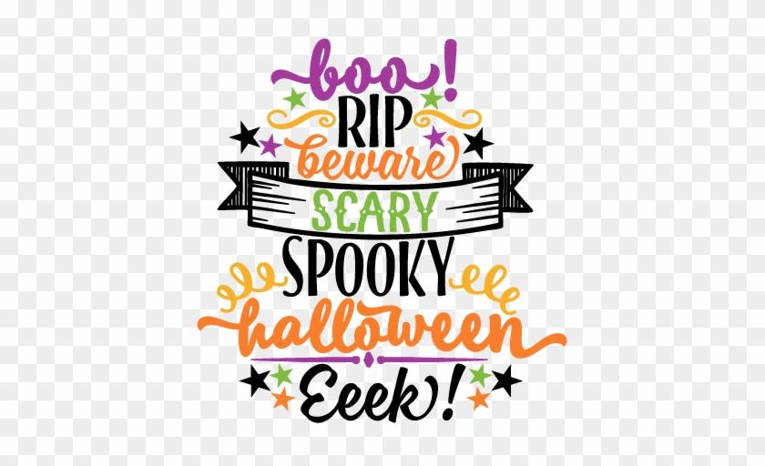 Halloween Word Art Svg Scrapbook Cut File Cute Clipart - Halloween Word Art #118457