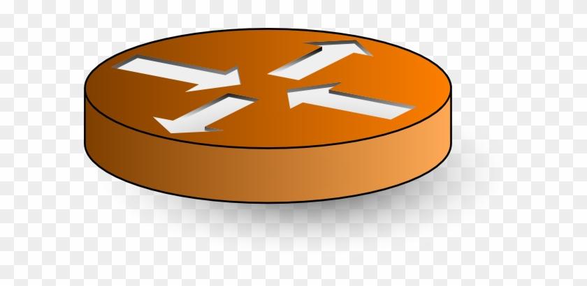 Router Clip Art At Clker - Cisco Router Symbol #118469