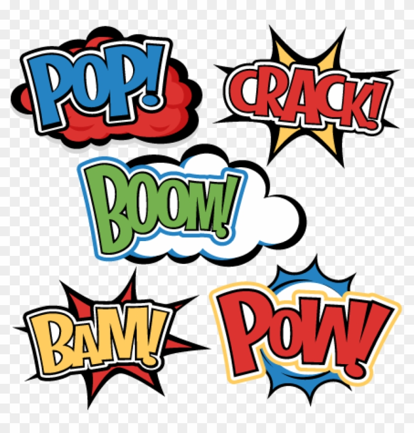 Superhero Word Cutouts Superhero Words Svg Cutting - Super Hero Words Png #118560
