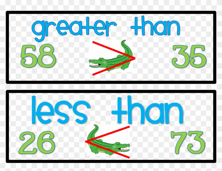 Math Vocabulary Words Clipart - Greater And Less Then Signs #118586