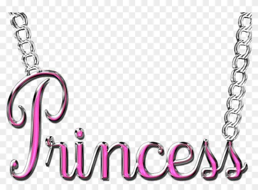 Word Princess Necklace Png By Princessdawn755 Word - Princess Word Pink Png #118593