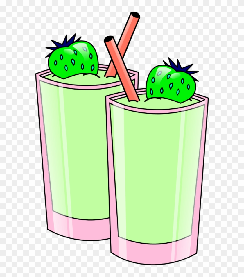 Strawberry Smoothie Vector Clip Art Library Png - Smoothie Clip Art Png #118665