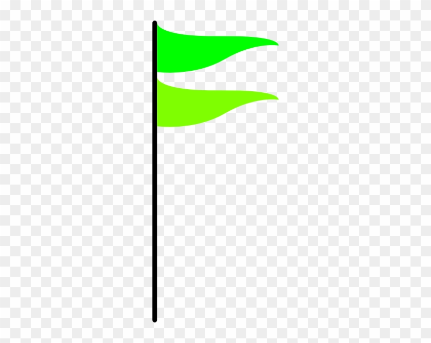 Double Green Flag Clip Art At Clker - Png Green Flag #118682