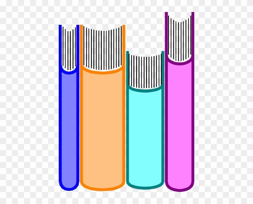 Library Books Clipart - Books On A Shelf Clip Art #118717