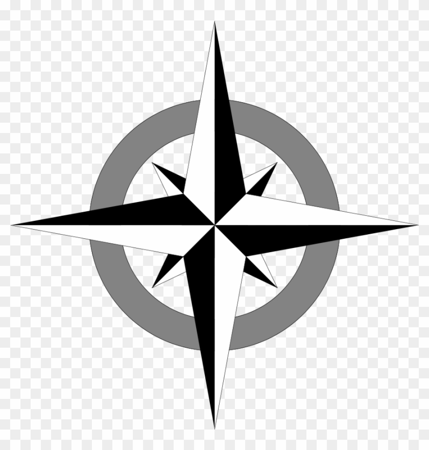 Simple Compass Rose Clip Art - Simple Compass Rose Vector #118750