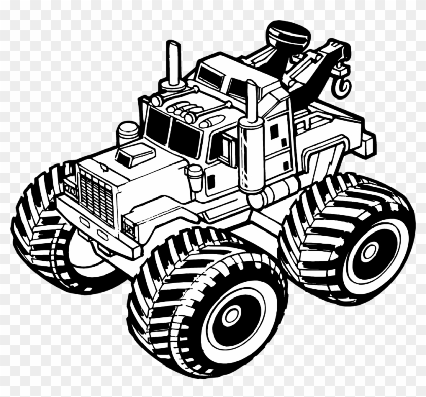 Tow Truck No Background Clipart Clipartfest - Toy Truck Clipart Black And White #118824