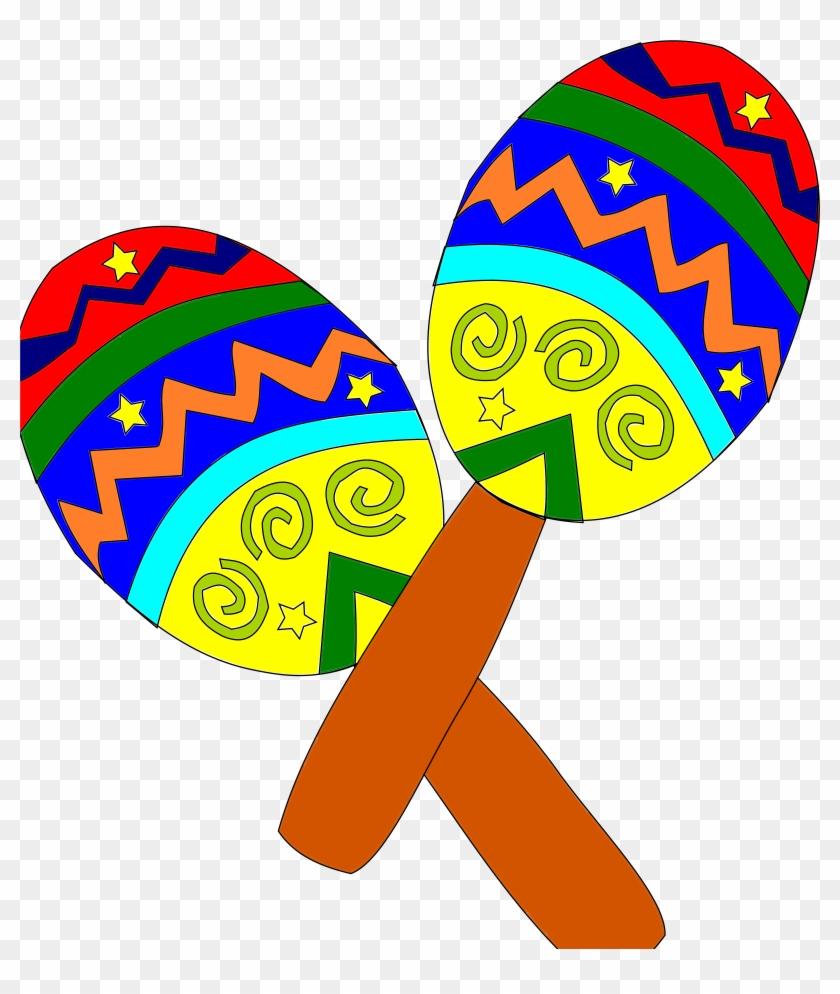 Sombrero And Maracas - Cinco De Mayo Maracas #118892