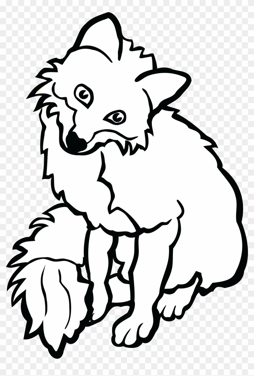 Free Clipart Of A Fox - Fox Black And White Clipart #118963