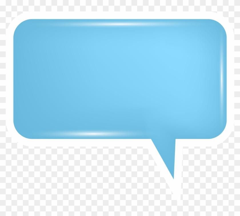 Bubble Speech Blue Png Transparent Clip Art Image - Bubble Speech Blue Png Transparent Clip Art Image #119094