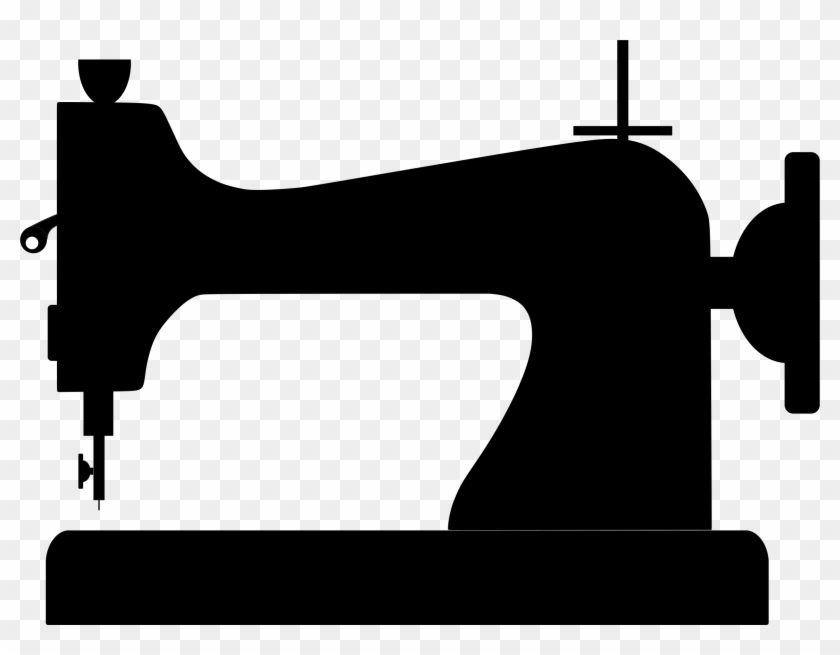 Clipart Sewing Machine Silhouette Rh Openclipart Org - Sewing Machine Silhouette #119092