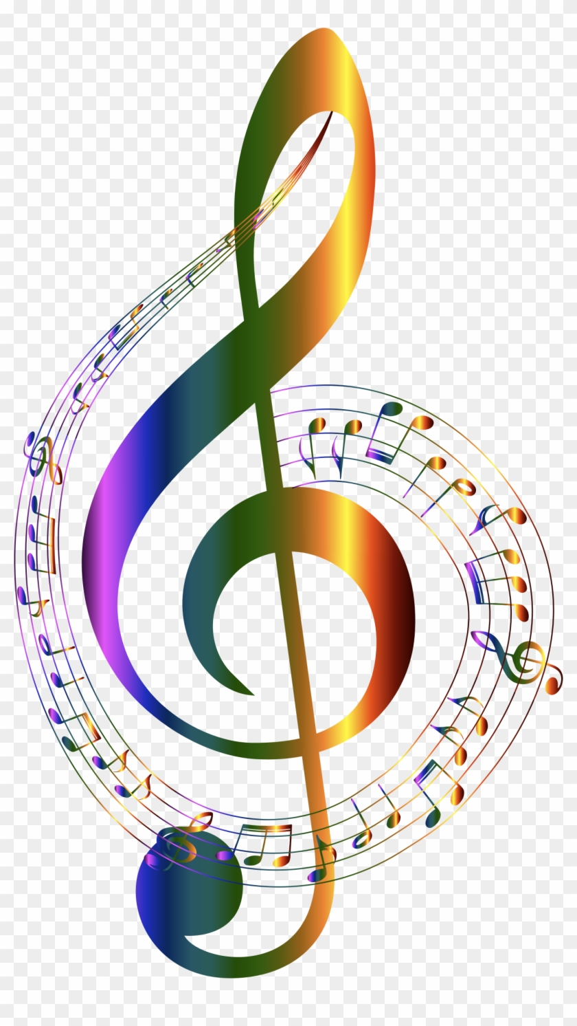 Chromatic Musical Notes Typography No Background Clipart - Transparent Background Music Notes #119101
