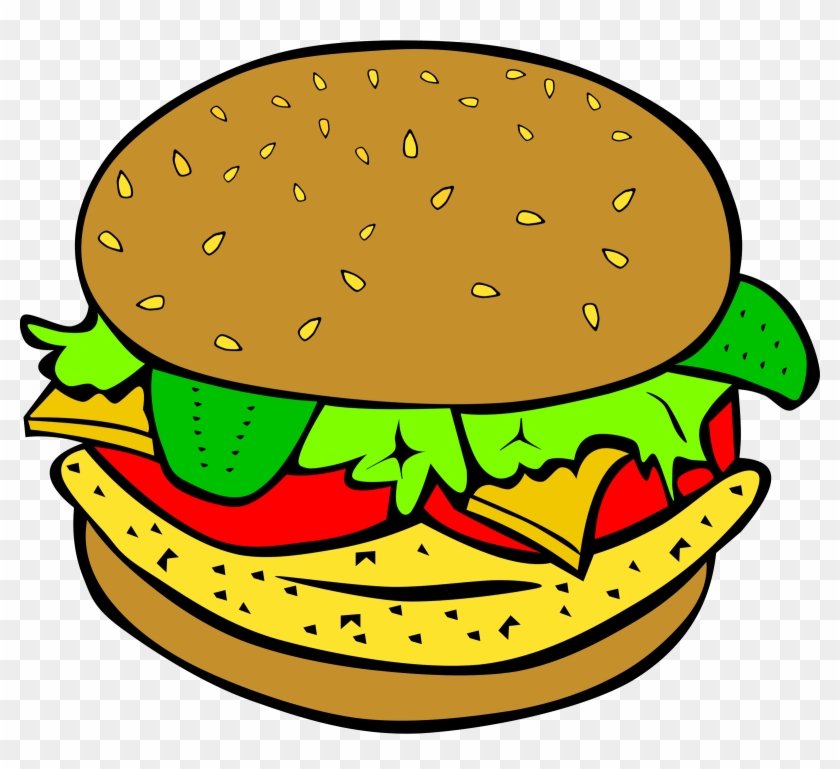 Fast Food, Lunch-dinner, Chicken Burger Clipart Images - Food Clipart #119108