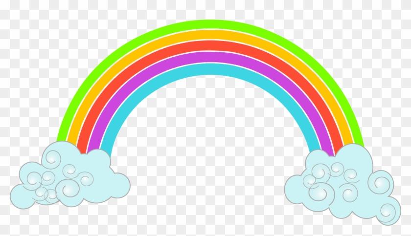 Cartoon Rainbow - Rainbow Png Clipart #119121
