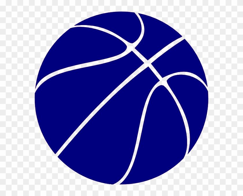 Blue Basketball Clip Art - Basketball Clipart Black And White #119235