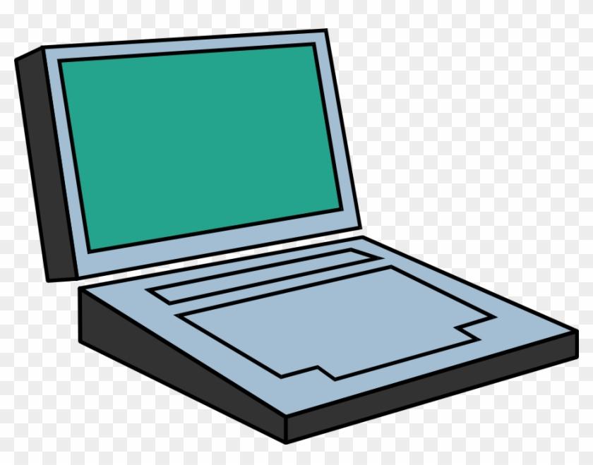 Computer Cliparts, Computer Design Svg - Simple Laptop #119295