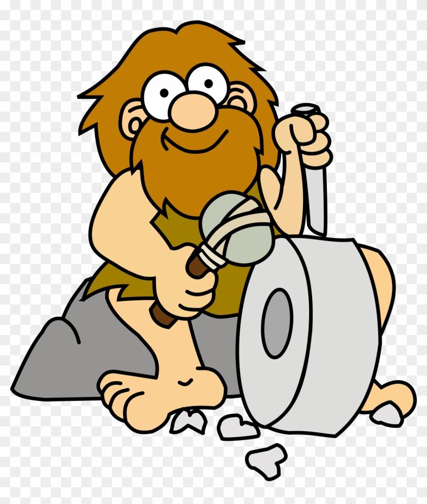 Big Image - Caveman Inventing The Wheel #119298