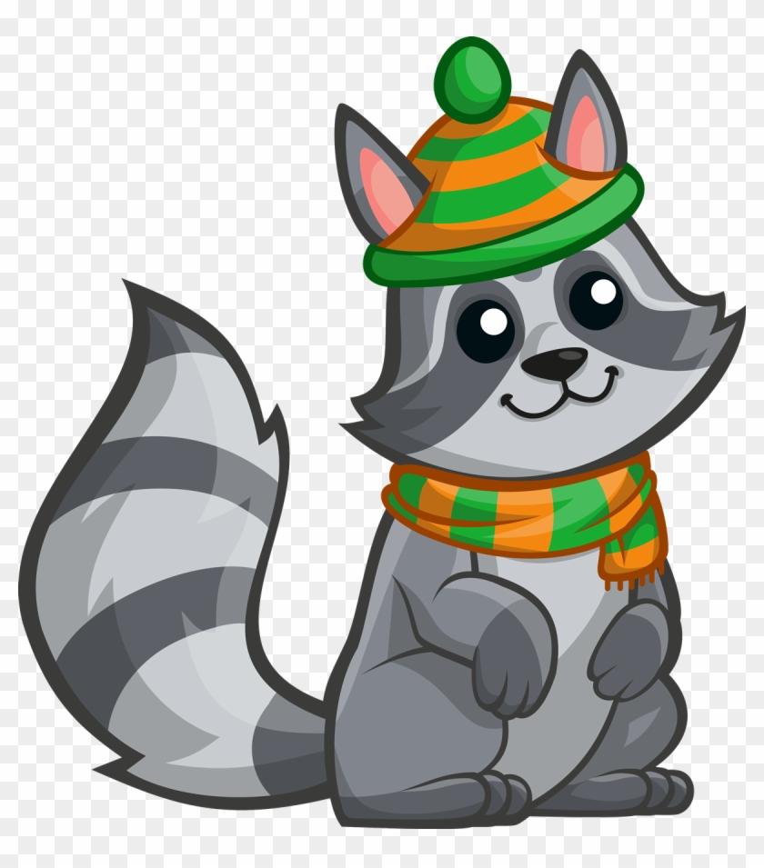 Raccoon Clip Art At Vector 4 - Raccoon Clipart #119355