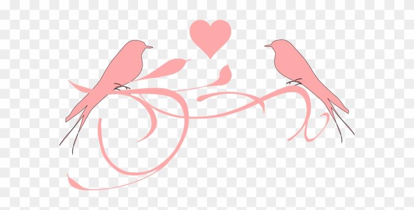 Lovebird Clipart Pink Bird - Clip Art Love Birds #119471