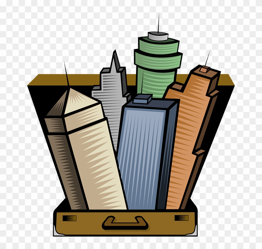 Suitcase Free To Use Clipart - City Centre Clipart #119532