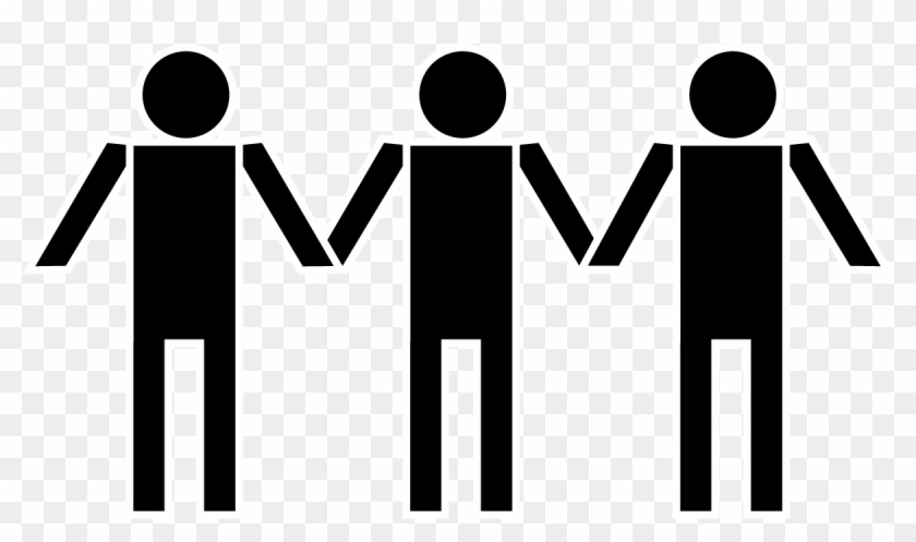 People Holding Hands Clipart Silhouette - People Holding Hands Clipart #119570