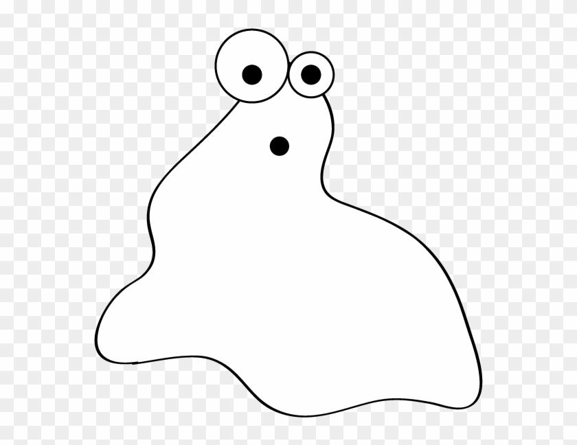 Ghost Blob Clip Art - Blob Black And White #119639