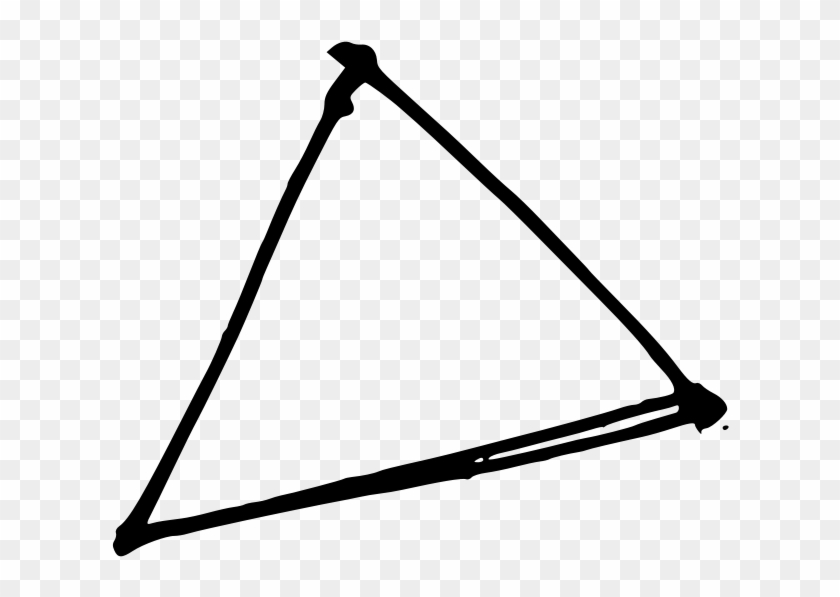 This Free Clip Arts Design Of Triangle By Hand - Hand Drawn Triangle #119678