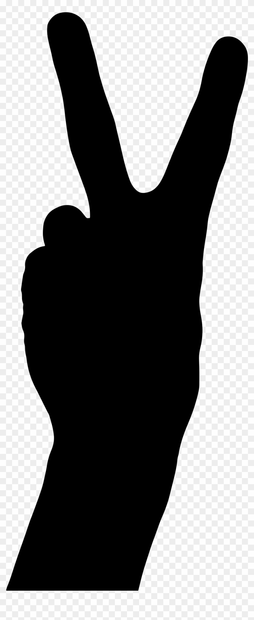 Clipart - 2 Hand Signal Vector #119689