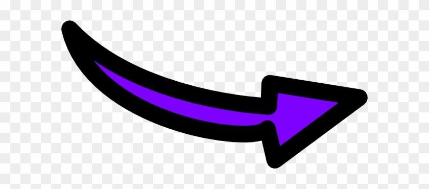 Purple Transparent Arrow #119733