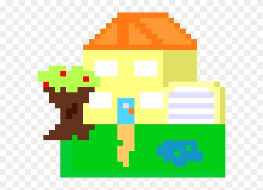 8 Bit House Clip Art - 8 Bit House Transparent Background #119738