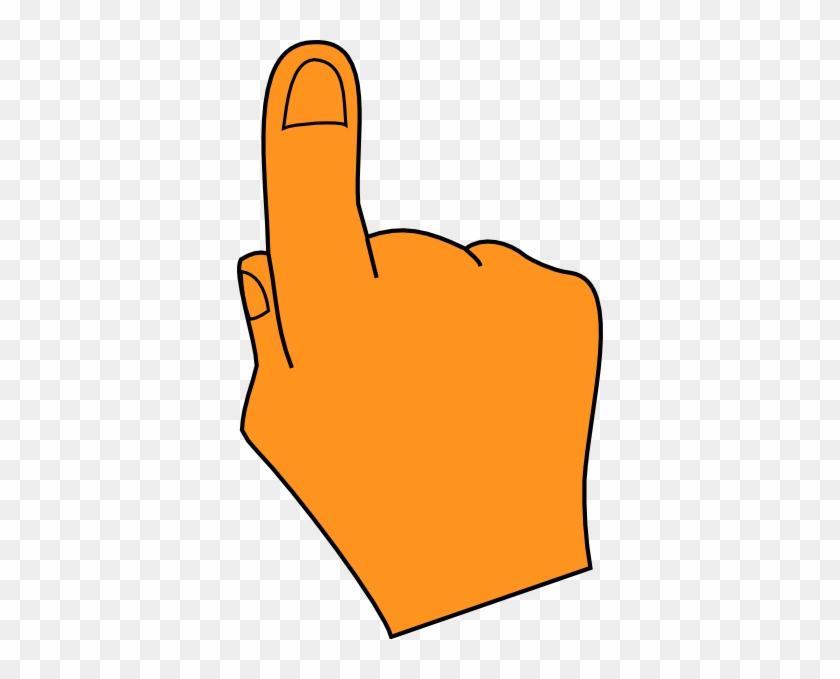 Pointing Finger Orange Clip Art - Pointing Hand Clip Art #119770