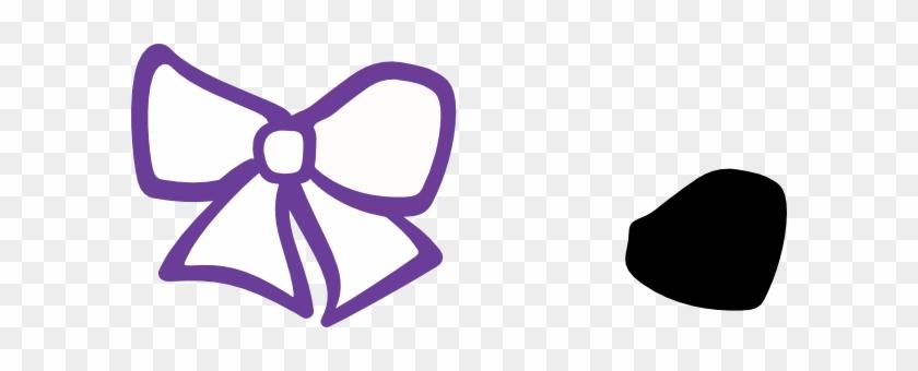 Hair Bow Purple Clip Art - Hair Bow Clip Art #119771