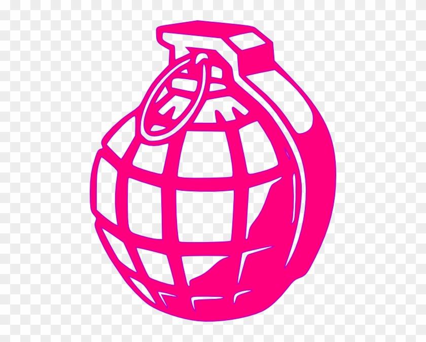 Pink Grenade Clip Art - Hand Grenade #119793