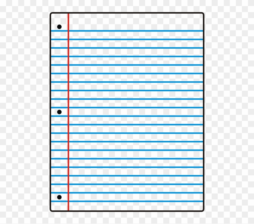 Lined Paper Lined Paper Notebook Paper Clipart - Sheet Of Notebook Paper #119842