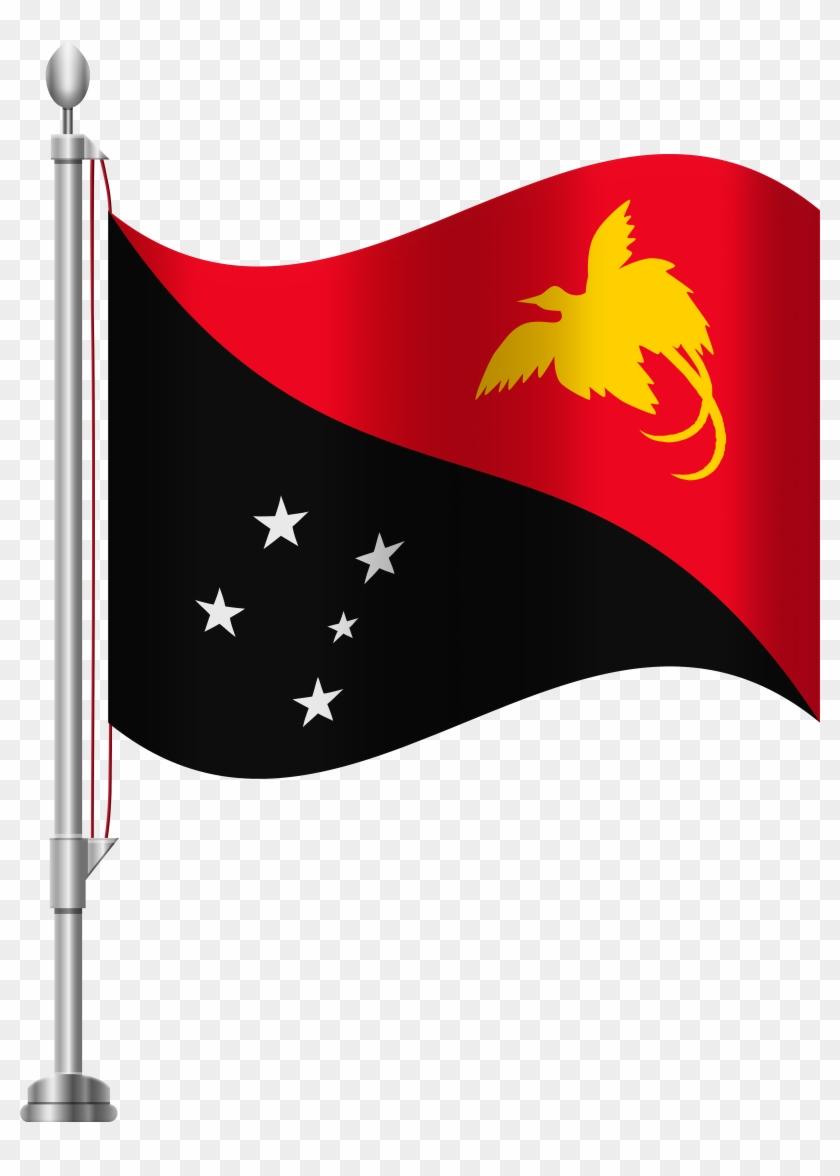 Papua New Guinea Flag Png Clip Art - Papua New Guinea Flag Png Clip Art #119882