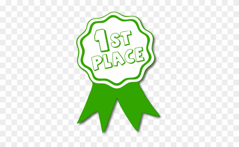 Free Awards Clipart - 1st Place Ribbon Green #119917