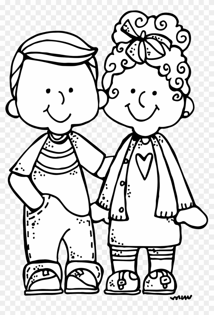 New Clip Art Sets Just Published As Well As Free Clip - Melonheads Family Clipart Black And White #119959