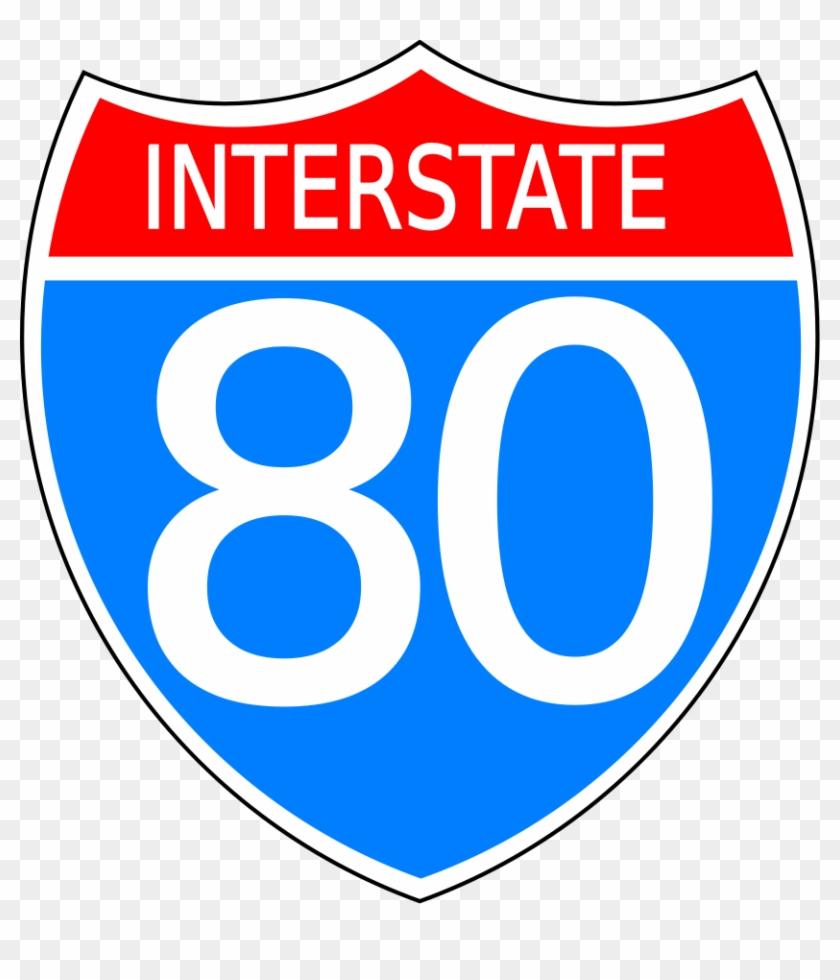 Interstate Highway Sign Svg Vector File, Vector Clip - Interstate Highway Sign #120184