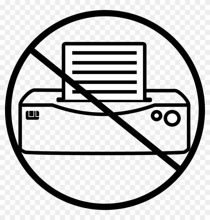 Printer Small Clipart 300pixel Size, Free Design - Printer Icon Vector #120192