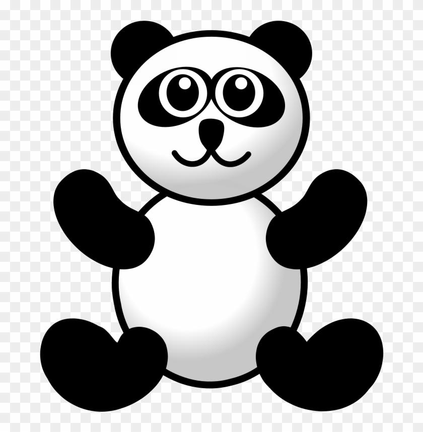 Clip Art Panda - Urso De Ursinho Bonito Da Panda Camiseta #120206