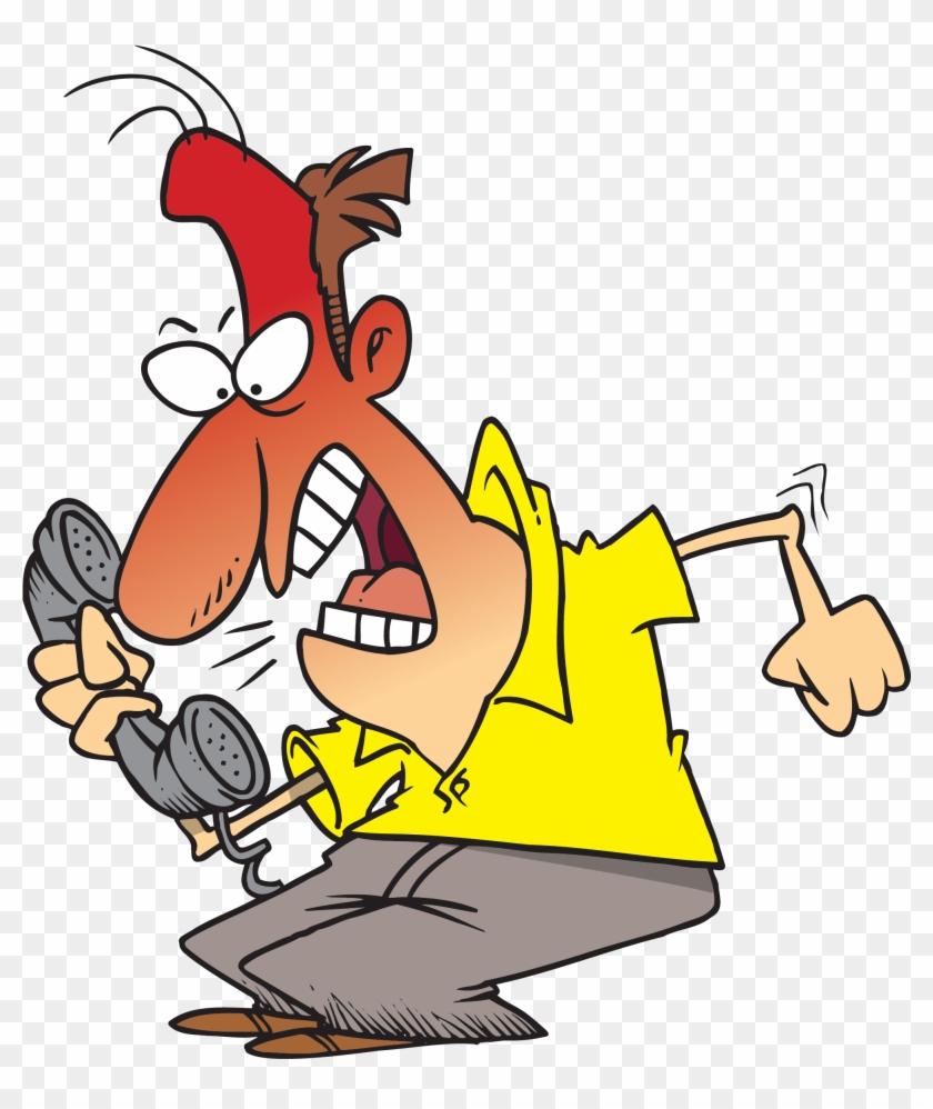 Customer Service Anger Clip Art - Angry Customer Cartoon #120224
