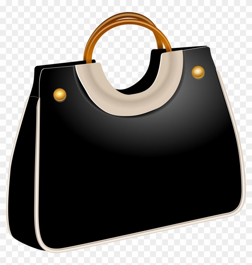 Handbag Black Png Clip Art - Bags Clipart Png #120253