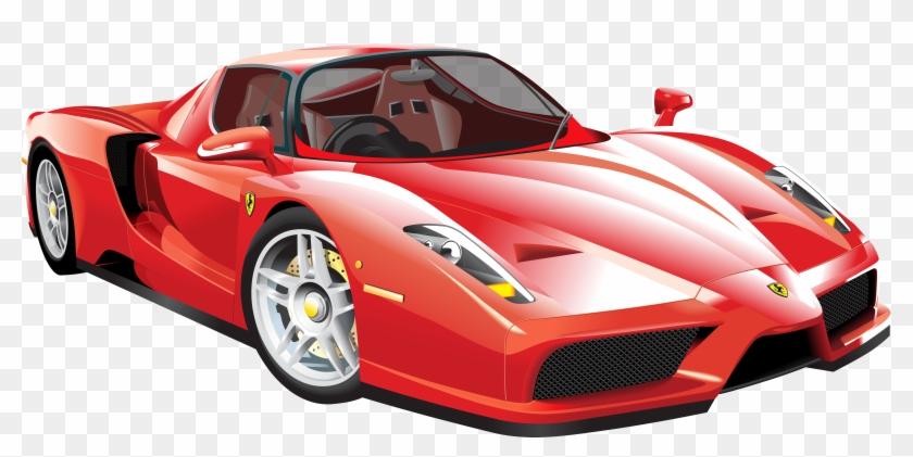 Red Ferrari Car Png Clip Art - Ferrari Clipart #120353