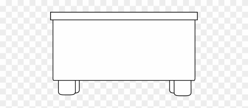 Black And White Desk Clip Art - Display Device #120358
