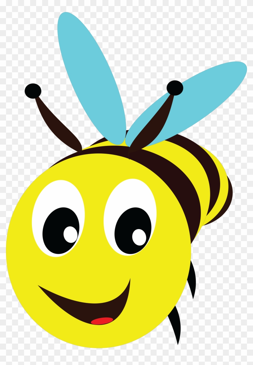 Free Clipart Of A Bee - Bee Head Clipart #120555