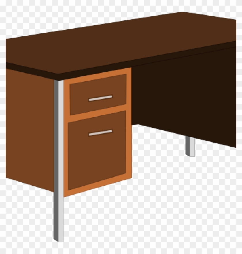 Desk Clipart Office Desk Clip Art At Clker Vector Clip - Table Clipart #120573